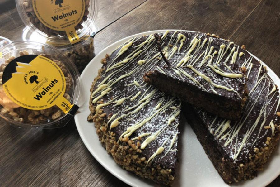 Walnut and Dark Chocolate Cake