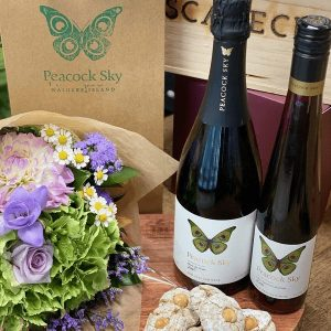 Mother's Day Wine, Flower & Cookie Gift Hamper