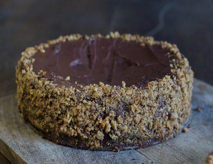 Chocolate Walnut Gateau