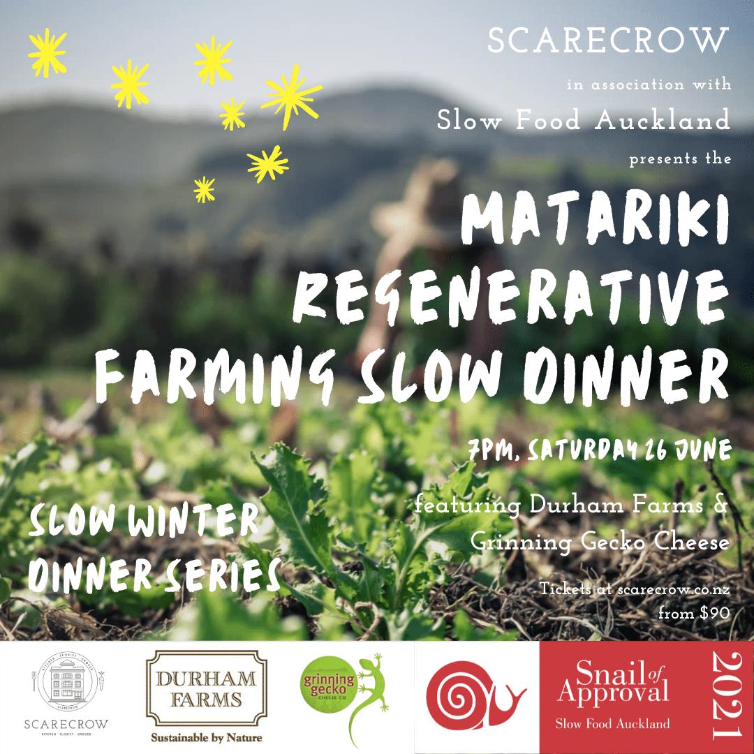 Matariki Regenerative Farming Slow Dinner